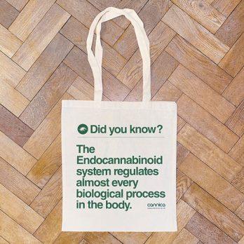 CBD oil tote bag gift